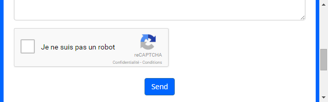 Center the Google reCaptcha form in a div with CSS